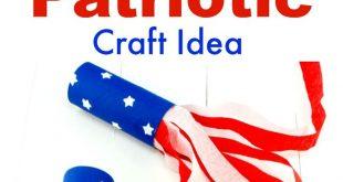 4th of July Craft Idea Patriotic Kids Blower