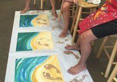 Kunst in der Grundschule: Barfuß am Strand ...