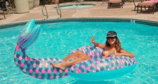Mermaid Tail Pool Float - 5 feet long and perfect for BIG summer fun