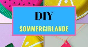Girlande für das Sommerfest selber basteln-einfache Anleitung-