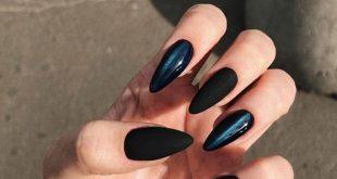 Mandelnägel für den Winter; Stiletto Nail Art Designs; Winter Nägel; Nägel fallen; ho