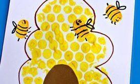 HLA SUMMER CAMP WOCHE 1 Bubble Wrap Bienenstock + Fingerabdruck