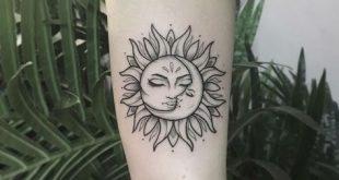 25 Sun and Moon Tattoo-Design-Ideen – #Moon #Sun #TattooDesignIdeen #flowertattoos