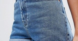 ASOS DESIGN denim Ritson mom short in blue | ASOS - #ASOS #Blue #Denim #Design #...