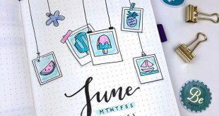 Alles in meinem Bullet Journal für Juni! Ich wusste, ich wollte das Thema in Be...