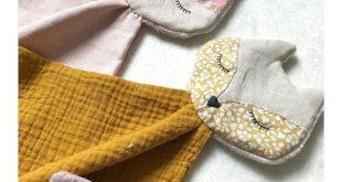 Baby Musselin Kuscheltuch 'Hase Bonnie' vanille ca. 50cm