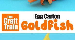 Egg carton goldfish craft
