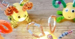 Glühwürmchen aus Kinder-Überraschungs-Eiern einfach und schnell mit Kindern basteln