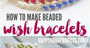 How to Make Woven Wish Bracelets at www.happyhourproj... | Great summer project!...