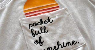 Niedliche T-Shirt Tasche voll des Sonnenscheins Glückliches Hemd bequem | Etsy ...