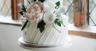 Rosa und weiße elegante Hochzeitstorte #obde # weddingideas2019 - Wedding Ide...