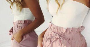 Strand-Hotpants-Sommershorts Strand-Shorts mit hoher Taille Damen-Shorts
