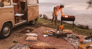 Van Leben Picknick mit Wandering Folk